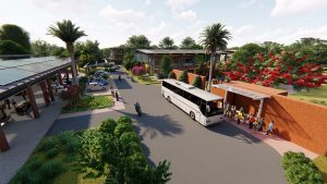 integrated transport and social hub and zifferblat